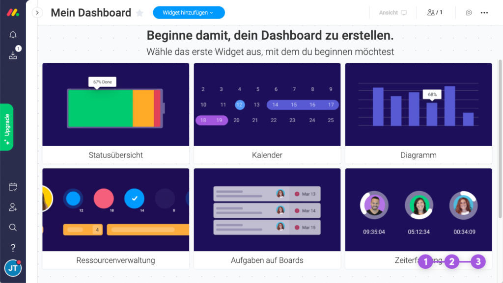 monday.com dashboards